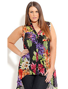 Hi Lo Tropical Shirt by City Chic