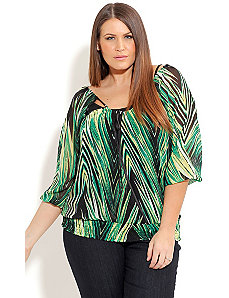 Wild Swirl Top by City Chic