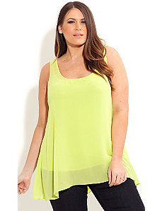 Hi Lo Drape Back Tunic by City Chic