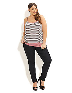 Layered Stripe Tank by City Chic