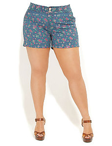 Floral Short Shorts by City Chic
