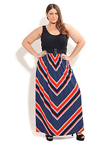 So Cute Stripe Maxi by City Chic