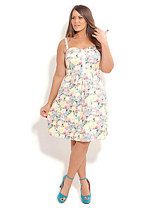 Sorbet Floral Dress by City Chic