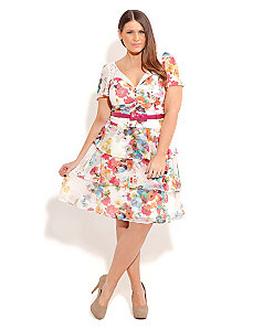 PRETTY GARDEN DRESS by City Chic