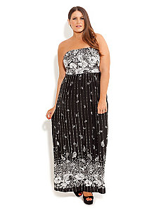 Paisley Metallic Dress by City Chic