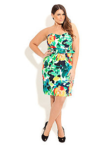 Floral Blast Dress by City Chic
