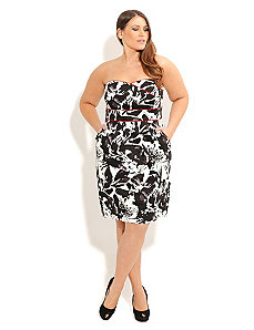 Monotone Floral Dress by City Chic