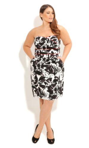 Monotone Floral Dress
