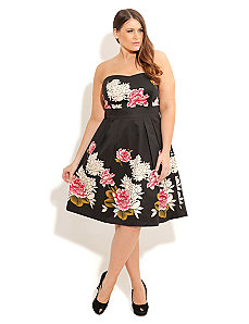 Floating Lotus Dress by City Chic