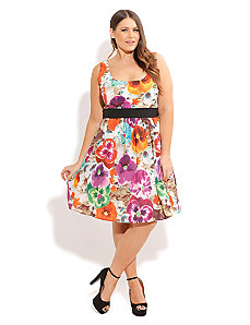 Pansy Power Dress by City Chic