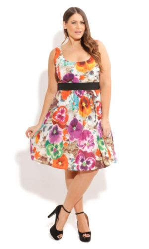 Pansy Power Dress
