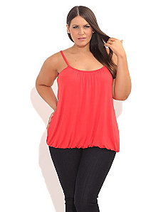 Color Bubble Hem Cami by City Chic