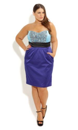 Beaded Blues Dress