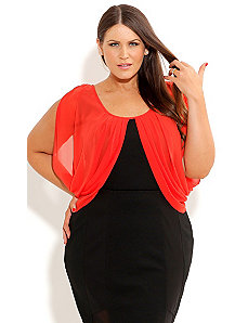 Contrast Drape Top by City Chic