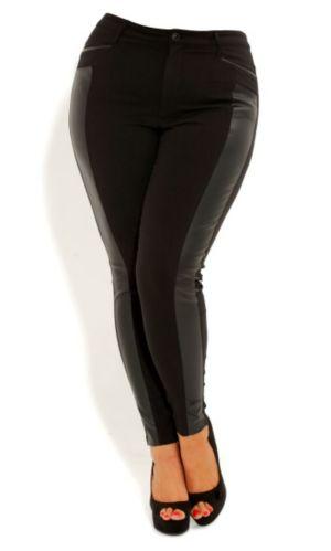 Skinny Pleather Panel Pant