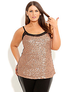 Sequin Shimmer Top by City Chic