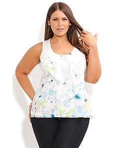 Ruffle Butterflies Top by City Chic
