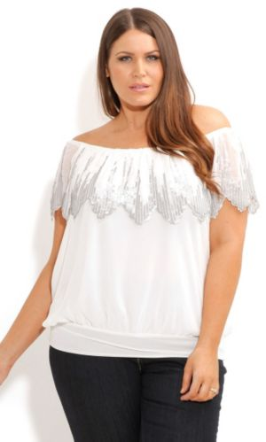 Sequin Flutter Top