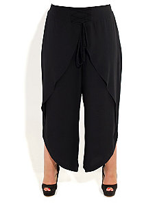 Wrap Front Pants by City Chic