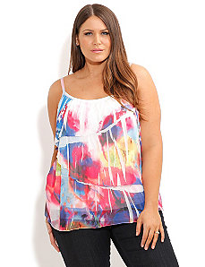 Crushed Brights Top by City Chic