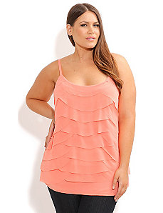 Strappy Tiered Dream Top by City Chic