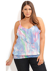 Strappy WaterColor Top by City Chic