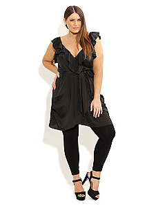 Ruffle Wrap Tunic by City Chic