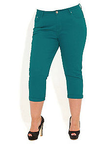 Cropped Colored Jeans by City Chic