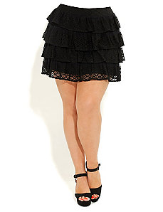 Lace Rara Skirt by City Chic