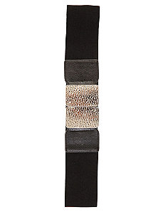 Embossed Buckle Belt by City Chic