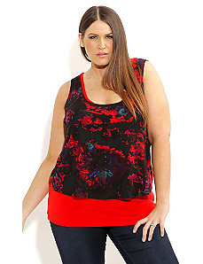 Fireblast Layer Top by City Chic