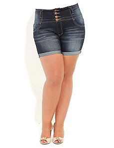 Hi Button Short Shorts by City Chic