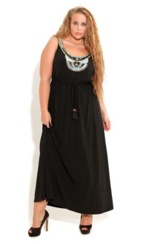 Beaded Neck Goddess Maxi