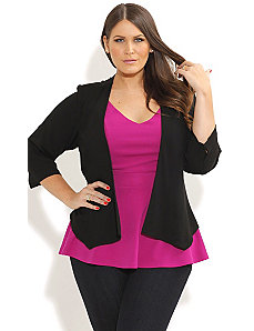 Cutout Back Panel Jacket by City Chic