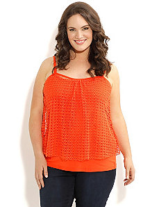 Bright Lace Tank by City Chic