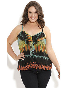Strappy Tigers Eye Top by City Chic