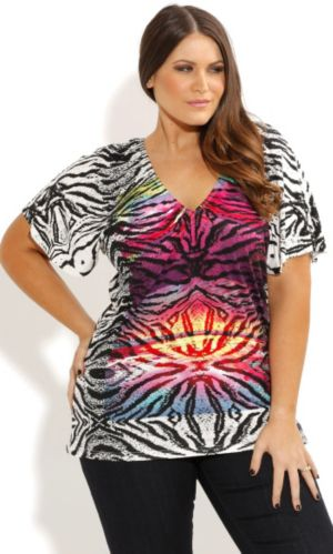 Rainbow Zebra Graffiti Top