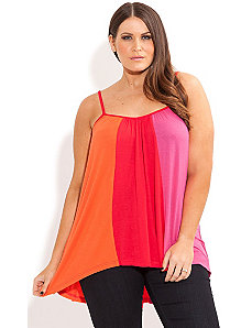 Spliced Color Top by City Chic