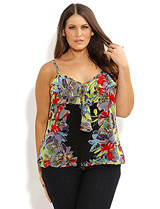 Abstract Strappy Top by City Chic