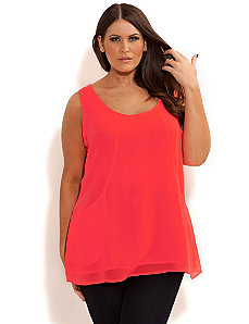 Neon Drape Pocket Top by City Chic