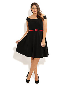 Bridgette Skater Dress by City Chic