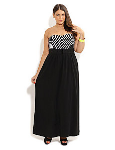 Stripe Bust Maxi by City Chic