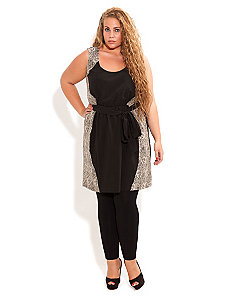 Lace Contrast Tunic by City Chic