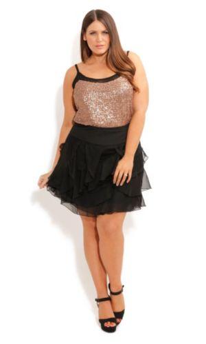 Peekaboo Lace Ruffle Skirt