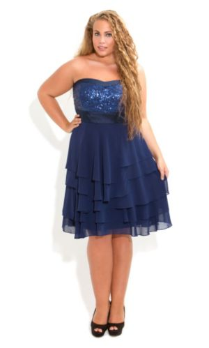 Sequin Bust Sophie Dress