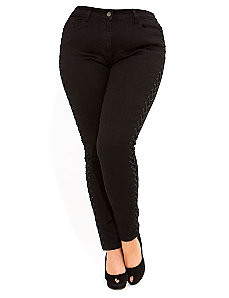 Lace Up Skinny Jean by City Chic