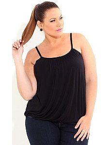 Bubble Hem Basic Cami by City Chic