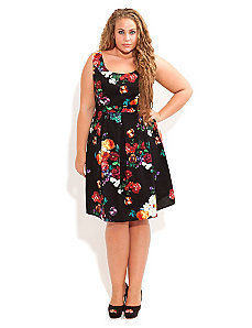 Rose Garden Dress by City Chic
