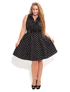 Spotty Dotty Dress by City Chic