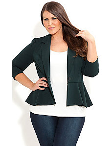 Ponte Peplum Jacket by City Chic